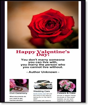 Valentines-day-Monthly Newsletter